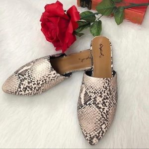 Shoes - ❗️TRENDING ❗️Python Snake Print Mule Flats